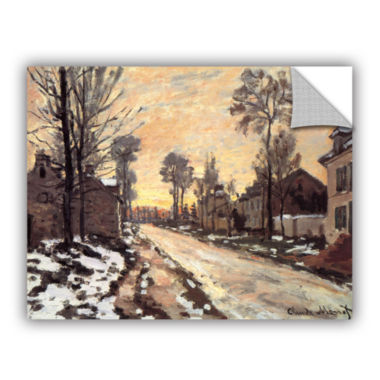 Brushstone Snowy Country Road Removable Wall Decal