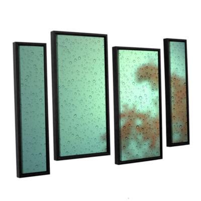 Brushstone Settle In 4-pc. Floater Framed Staggered Canvas Wall Art