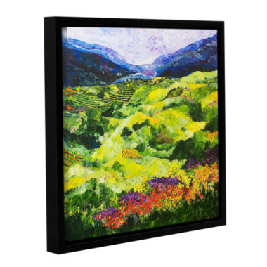 Brushstone Soft Grass Gallery Wrapped Floater-Framed Canvas Wall Art