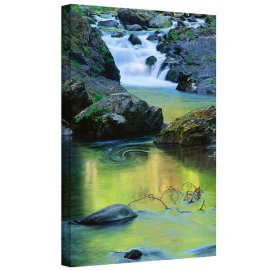 Brushstone Sol Duc River Reflections Gallery Wrapped Canvas Wall Art