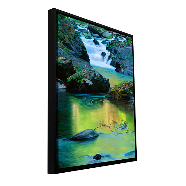 Brushstone Sol Duc River Reflections Gallery Wrapped Floater-Framed Canvas Wall Art