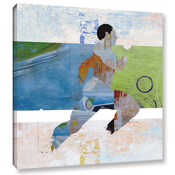Brushstone Runner Gallery Wrapped Canvas Wall Art