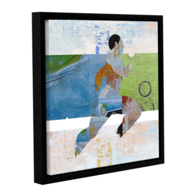 Brushstone Runner Gallery Wrapped Floater-Framed Canvas Wall Art