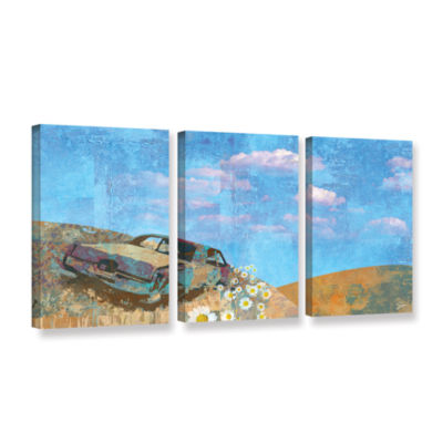 Brushstone Rusted 3-pc. Gallery Wrapped Canvas Wall Art