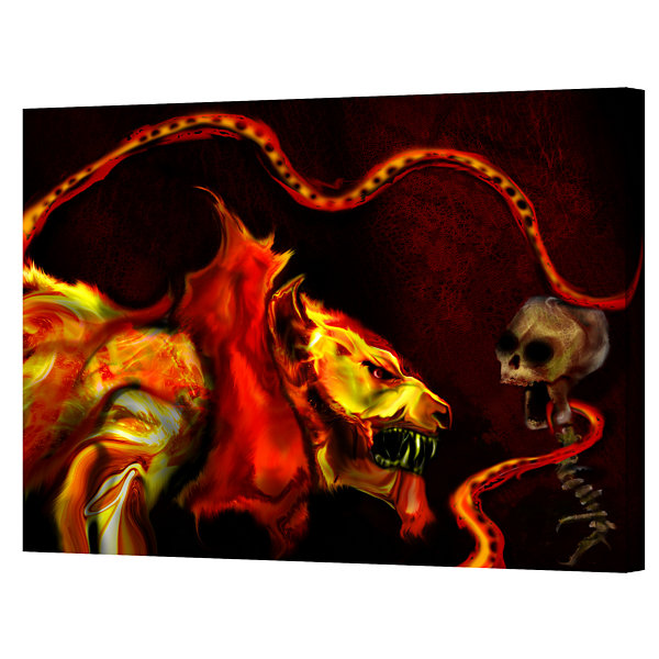 Brushstone Shadow Of The Beast Gallery Wrapped Canvas Wall Art