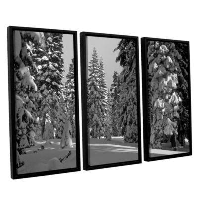 Brushstone Solitude 3-pc. Floater Framed Canvas Wall Art