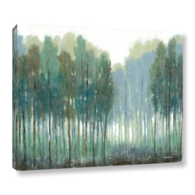 Brushstone Somber Coastline Gallery Wrapped CanvasWall Art