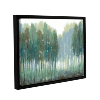 Brushstone Somber Coastline Gallery Wrapped Floater-Framed Canvas Wall Art