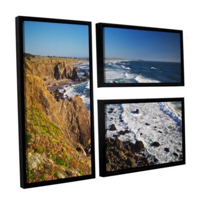 Brushstone Sonoma Coast 3-pc. Flag Floater FramedCanvas Wall Art