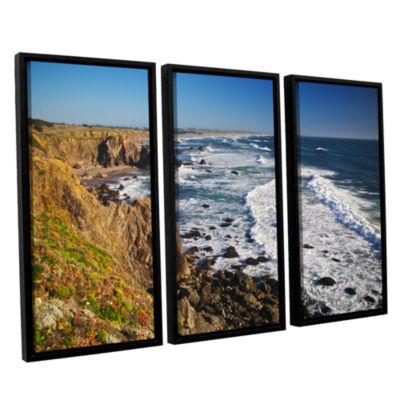 Brushstone Sonoma Coast 3-pc. Floater Framed Canvas Wall Art