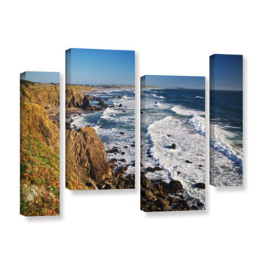 Brushstone Sonoma Coast 4-pc. Gallery Wrapped Staggered Canvas Wall Art