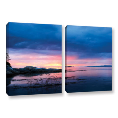 Brushstone Seascape 2-pc. Gallery Wrapped Canvas Wall Art