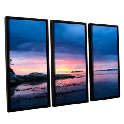 Brushstone Seascape 3-pc. Floater Framed Canvas Wall Art