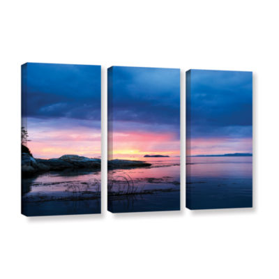 Brushstone Seascape 3-pc. Gallery Wrapped Canvas Wall Art