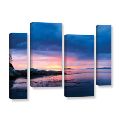 Brushstone Seascape 4-pc. Gallery Wrapped Staggered Canvas Wall Art