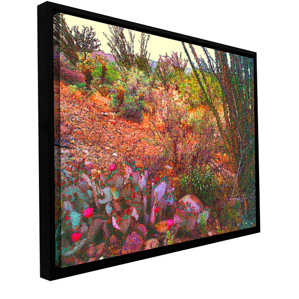 Brushstone Sonoran Spring Gallery Wrapped Floater-Framed Canvas Wall Art