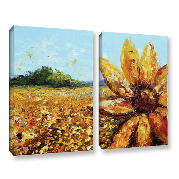 Brushstone Seeing The Sun 2-pc. Gallery Wrapped Canvas Wall Art
