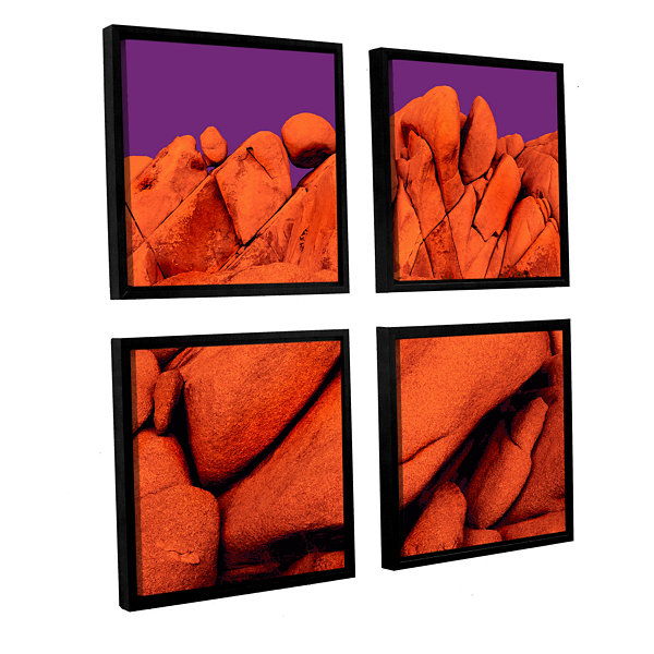 Brushstone Santa Ana Afterglow 4-pc. Square Floater Framed Canvas Wall Art