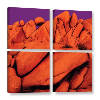 Brushstone Santa Ana Afterglow 4-pc. Square Gallery Wrapped Canvas Wall Art