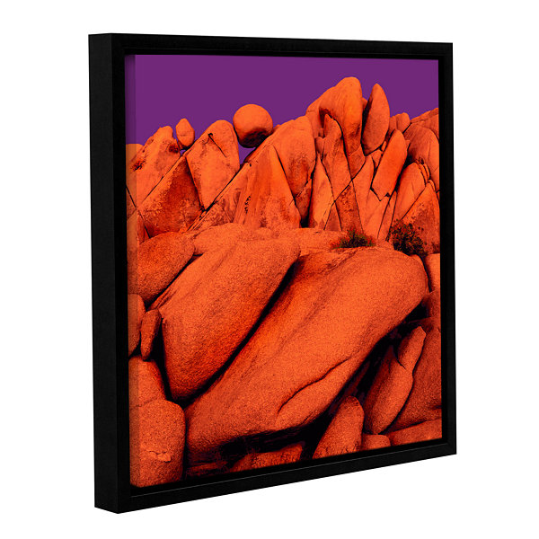 Brushstone Santa Ana Afterglow Gallery Wrapped Floater-Framed Canvas Wall Art