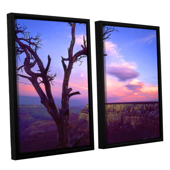 Brushstone South Rim Moon 2-pc. Floater Framed Canvas Wall Art