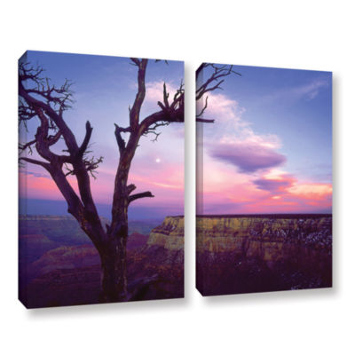 Brushstone South Rim Moon 2-pc. Gallery Wrapped Canvas Wall Art