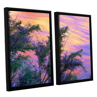 Brushstone Sandstone Reflections 2-pc. Floater Framed Canvas Wall Art