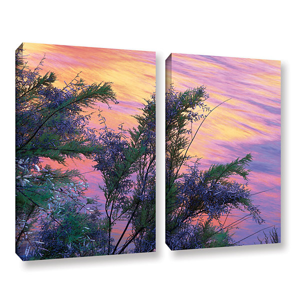 Brushstone Sandstone Reflections 2-pc. Gallery Wrapped Canvas Wall Art