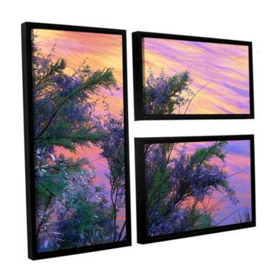 Brushstone Sandstone Reflections 3-pc. Flag Floater Framed Canvas Wall Art