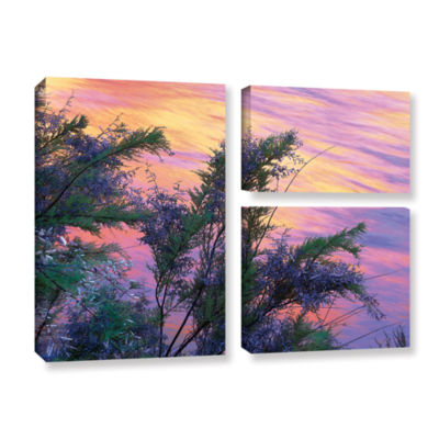 Brushstone Sandstone Reflections 3-pc. Flag Gallery Wrapped Canvas Wall Art
