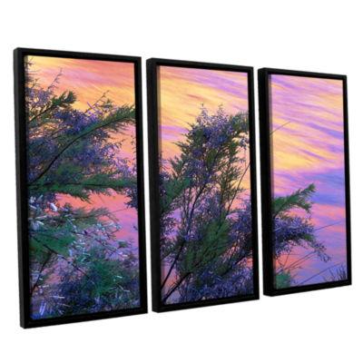 Brushstone Sandstone Reflections 3-pc. Floater Framed Canvas Wall Art