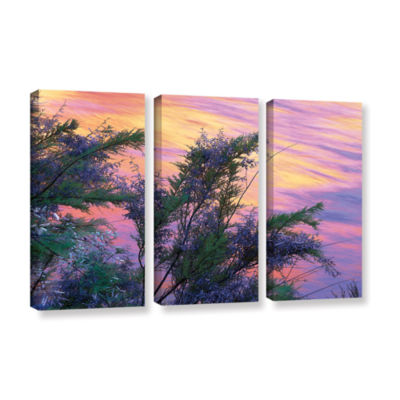 Brushstone Sandstone Reflections 3-pc. Gallery Wrapped Canvas Wall Art