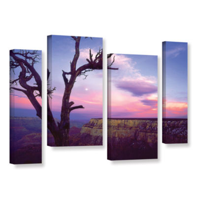 Brushstone South Rim Moon 4-pc. Gallery Wrapped Staggered Canvas Wall Art