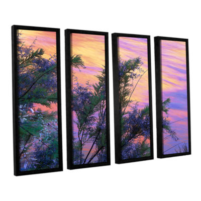 Brushstone Sandstone Reflections 4-pc. Floater Framed Canvas Wall Art