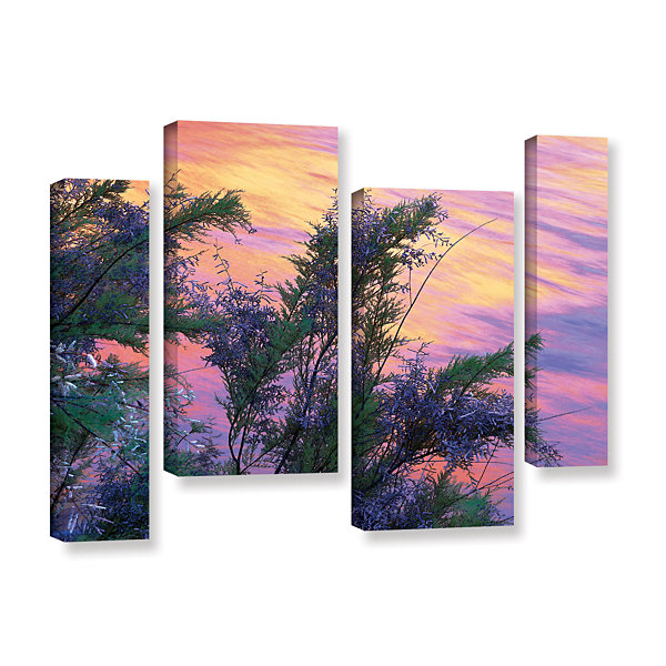 Brushstone Sandstone Reflections 4-pc. Gallery Wrapped Staggered Canvas Wall Art