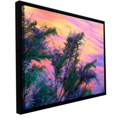 Brushstone Sandstone Reflections Gallery Wrapped Floater-Framed Canvas Wall Art