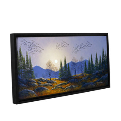 Brushstone Southern Migration By Moonlight GalleryWrapped Floater-Framed Canvas Wall Art