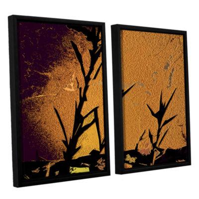 Brushstone Shadow Rock 2-pc. Floater Framed CanvasWall Art