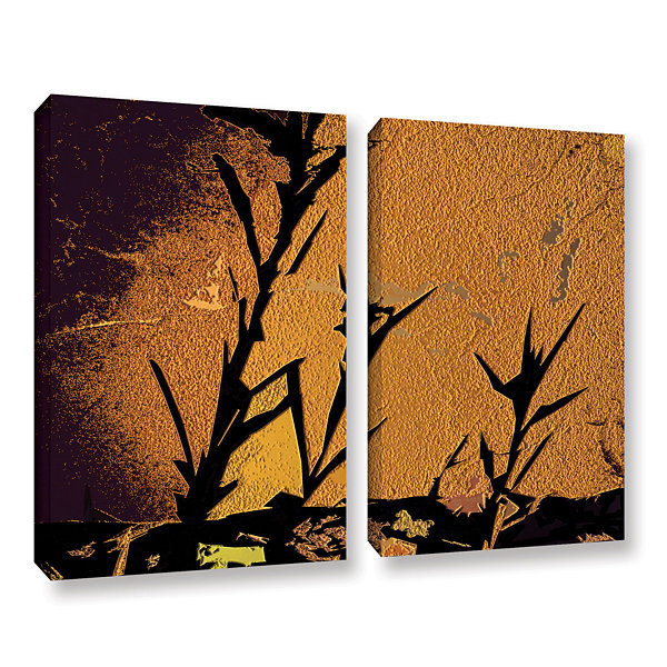 Brushstone Shadow Rock 2-pc. Gallery Wrapped Canvas Wall Art