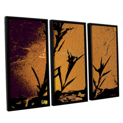 Brushstone Shadow Rock 3-pc. Floater Framed CanvasWall Art