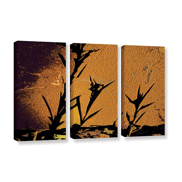 Brushstone Shadow Rock 3-pc. Gallery Wrapped Canvas Wall Art