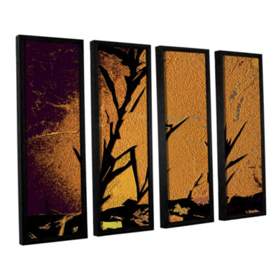 Brushstone Shadow Rock 4-pc. Floater Framed CanvasWall Art