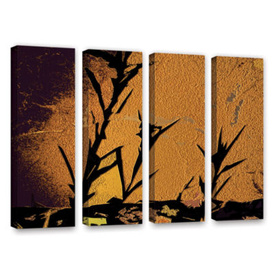 Brushstone Shadow Rock 4-pc. Gallery Wrapped Canvas Wall Art