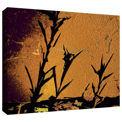 Brushstone Shadow Rock Gallery Wrapped Canvas WallArt