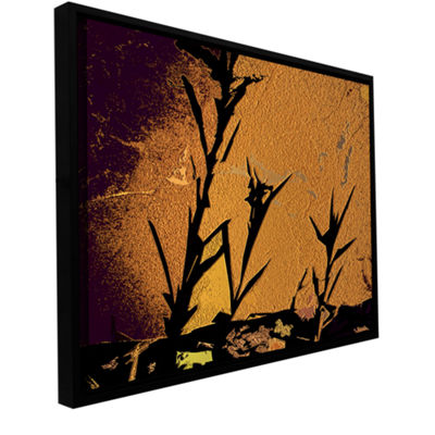 Brushstone Shadow Rock Gallery Wrapped Floater-Framed Canvas Wall Art