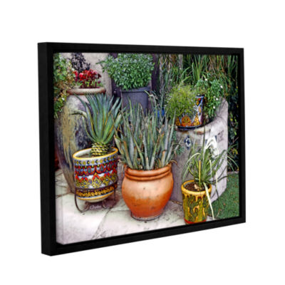 Brushstone Southwest Potted Garden Gallery WrappedFloater-Framed Canvas Wall Art