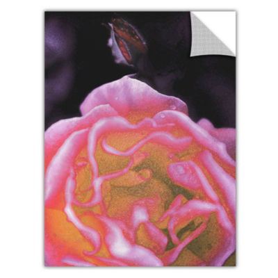 Brushstone Rose Bud Removable Wall Decal