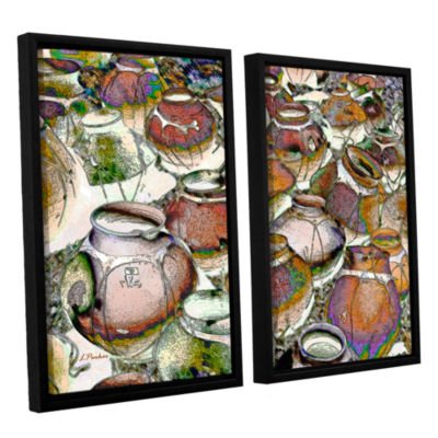 Brushstone Southwestern Pots 2-pc. Floater FramedCanvas Wall Art