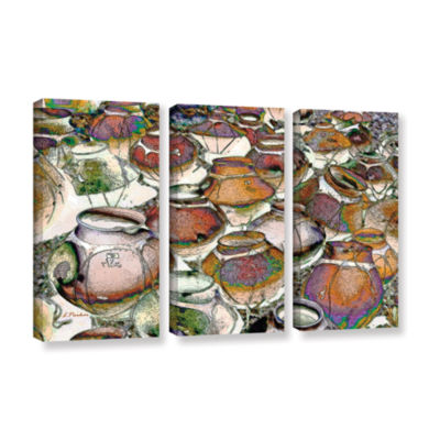Brushstone Southwestern Pots 3-pc. Gallery WrappedCanvas Wall Art