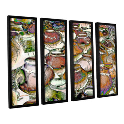 Brushstone Southwestern Pots 4-pc. Floater FramedCanvas Wall Art
